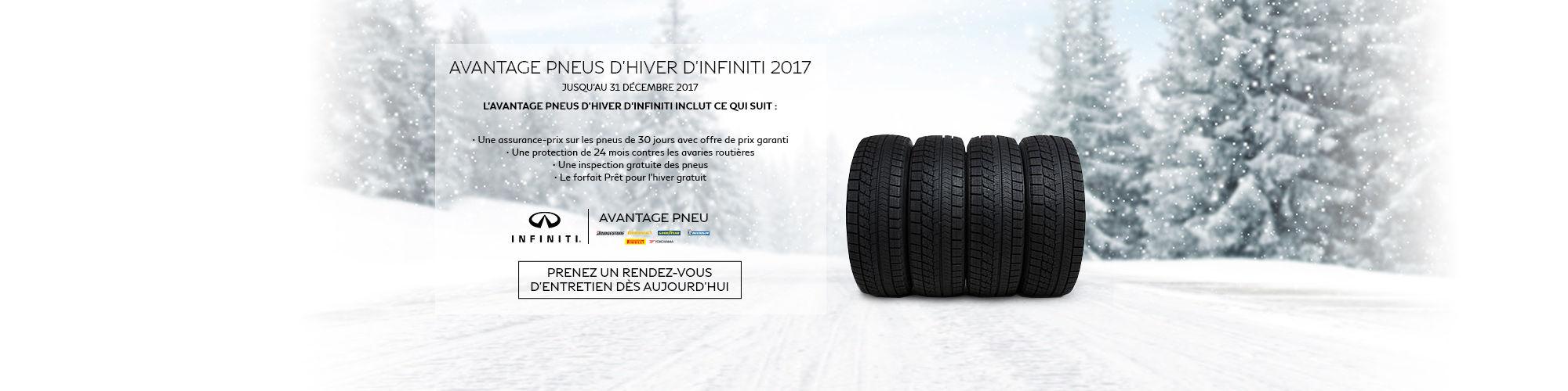 Avantage pneus d'hiver Infiniti