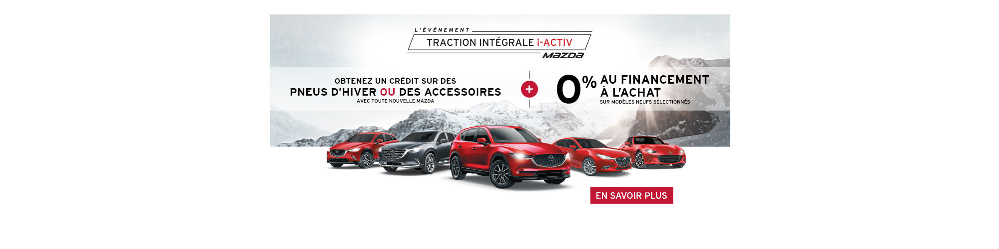 Promotion Mazda - Pneus ou accessoires