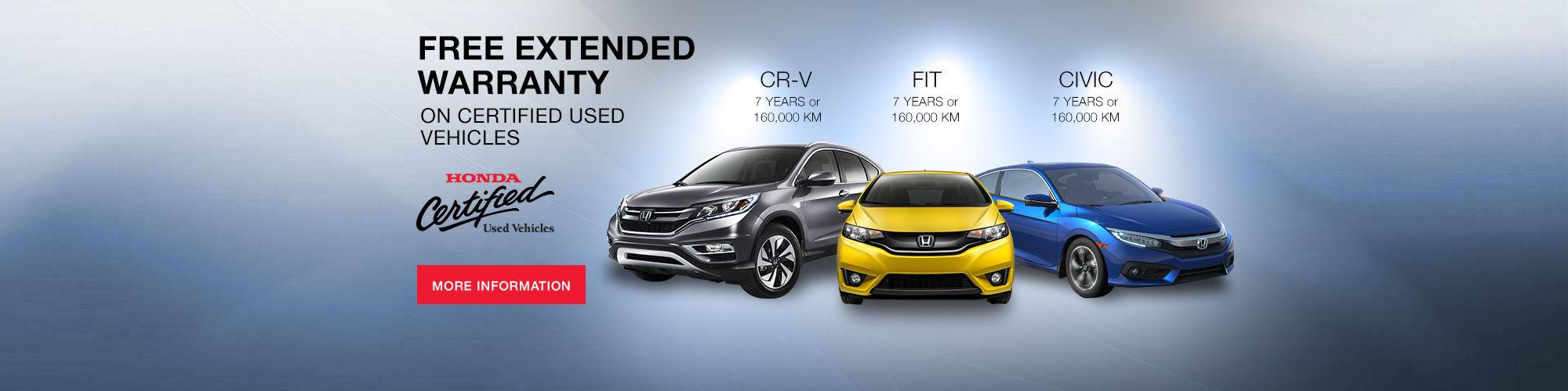 Honda - extended warranty