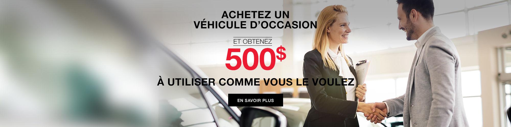 500$ en crédit Spinelli Mazda