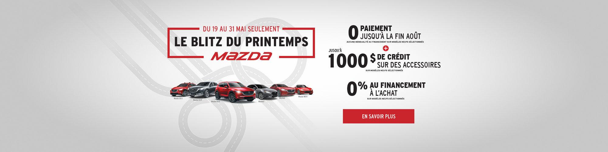 Événement Blitz du printemps Mazda