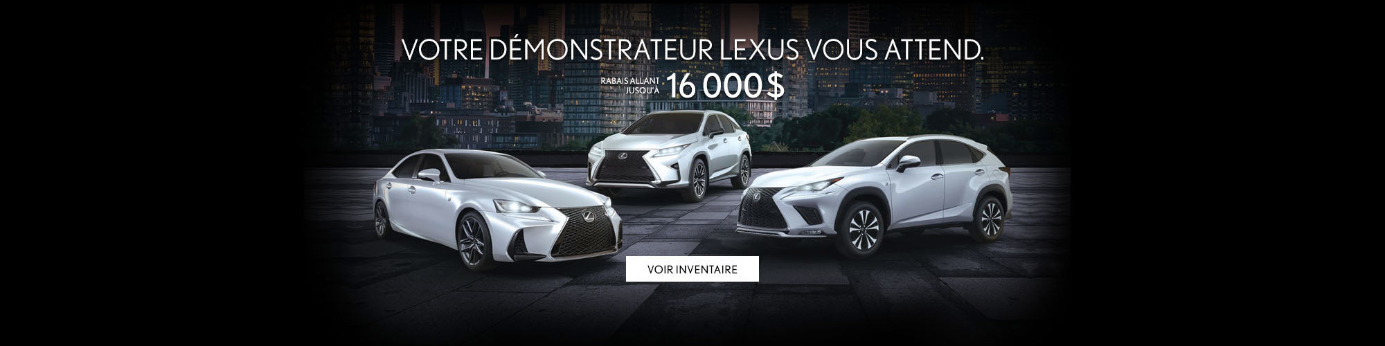Vente de démonstrateur Lexus