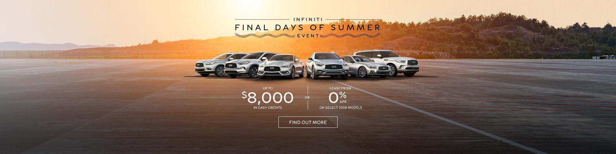 Infiniti final days of summer event