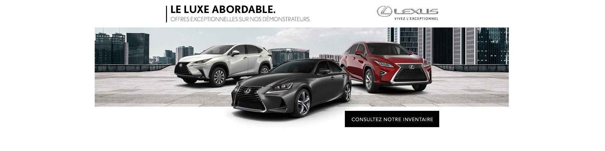 Vente Démonstrateurs Lexus