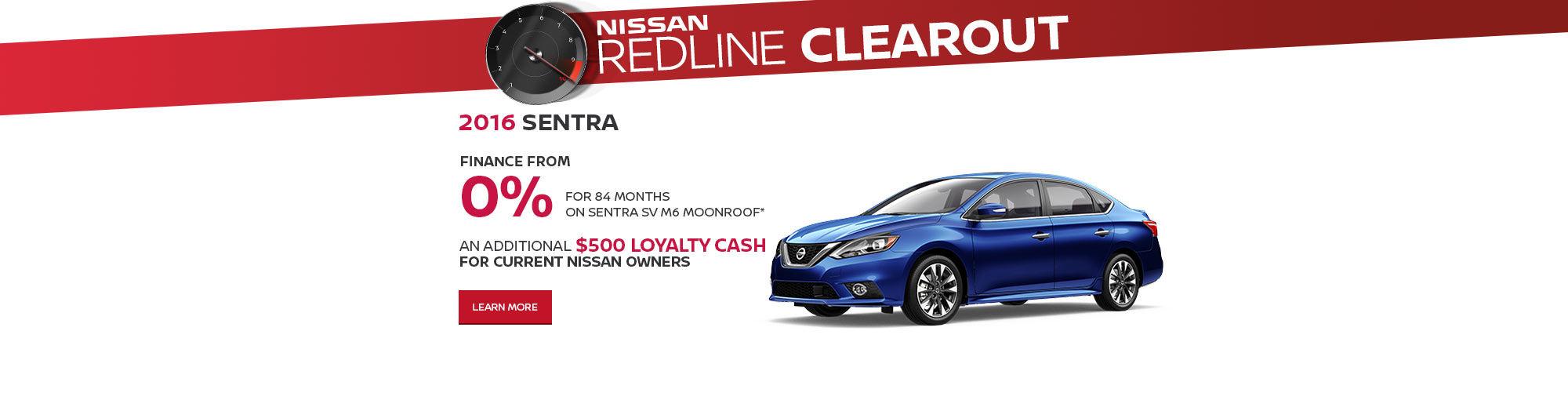 Redline Clearout Promo September-Sentra