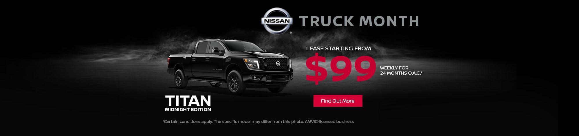 2018 Nissan Truck Month- Titan
