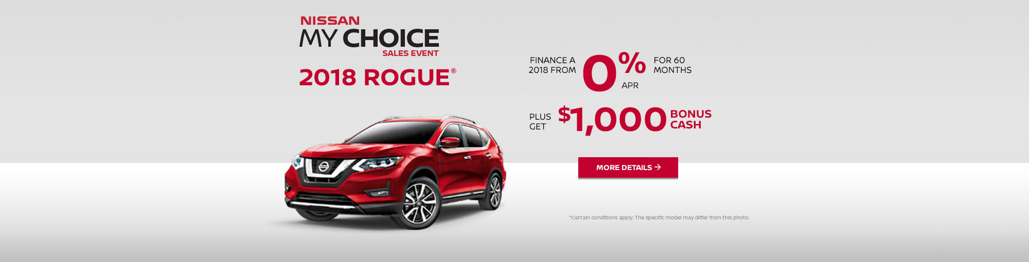 Nissan My Choice Sales Event - Rogue (web)