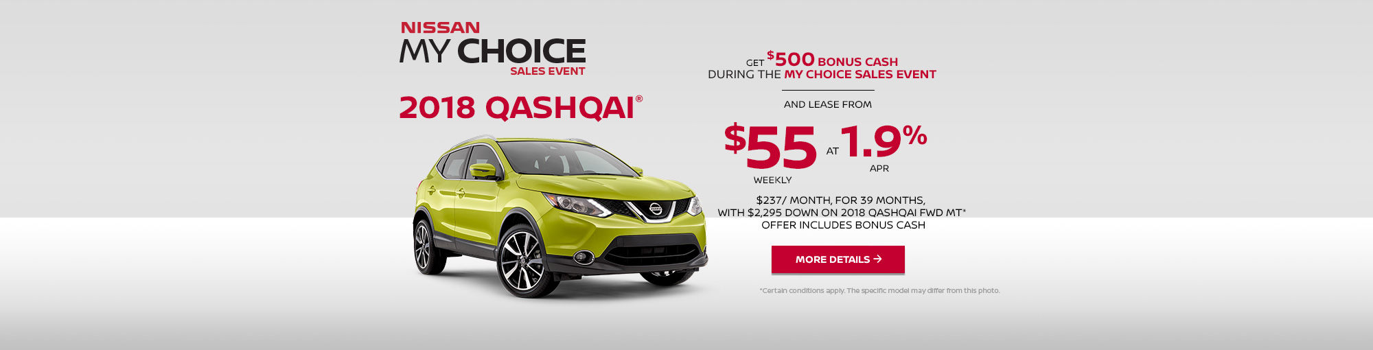 Nissan My Choice Sales Event - Qashqai (web)