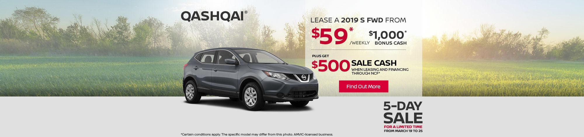 2019 Nissan Qashqai - 5 day sale