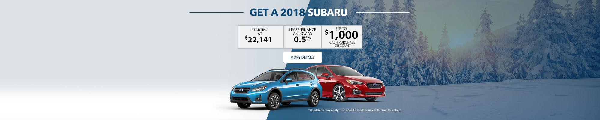 Get a 2018 Subaru