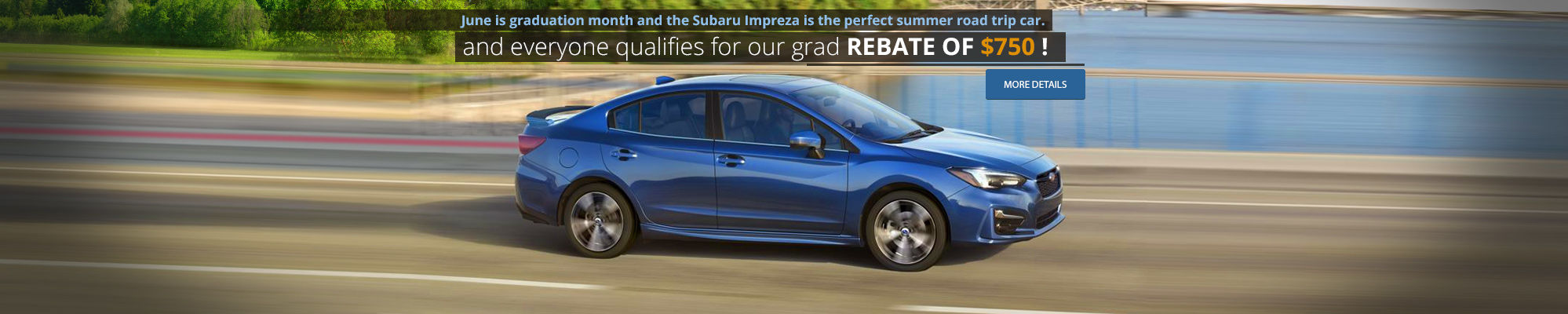 Subaru roadtrip - Rebate of $750 !