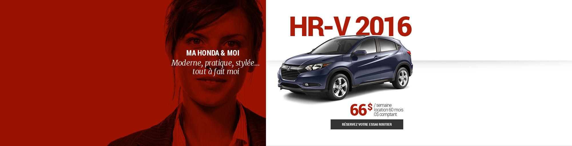 HR-V 2016 - mai-juin-juillet-août-septembre 2016