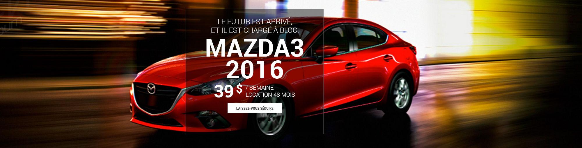 Mazda3 2016 -juillet 2016