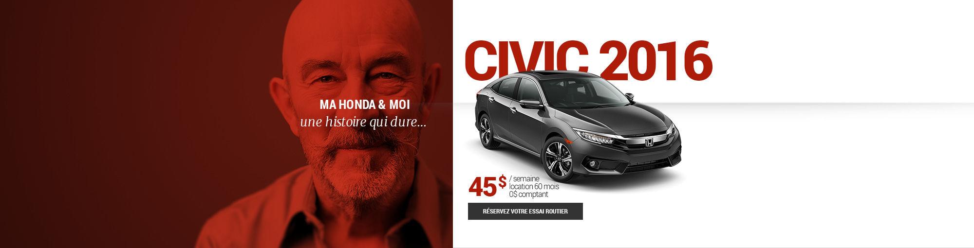 Civic 2016 - octobre 2016