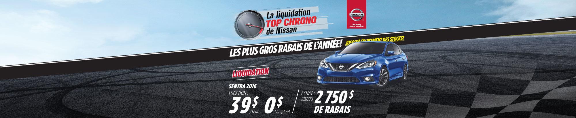 La liquidation top chrono de Nissan  - Sentra 2016