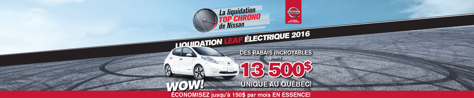 L'événement top chrono de Nissan - Leaf 2016