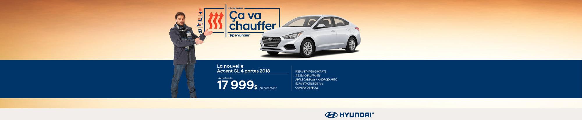 L'événement ÇA VA CHAUFFER chez Hyundai avec l'Accent berline