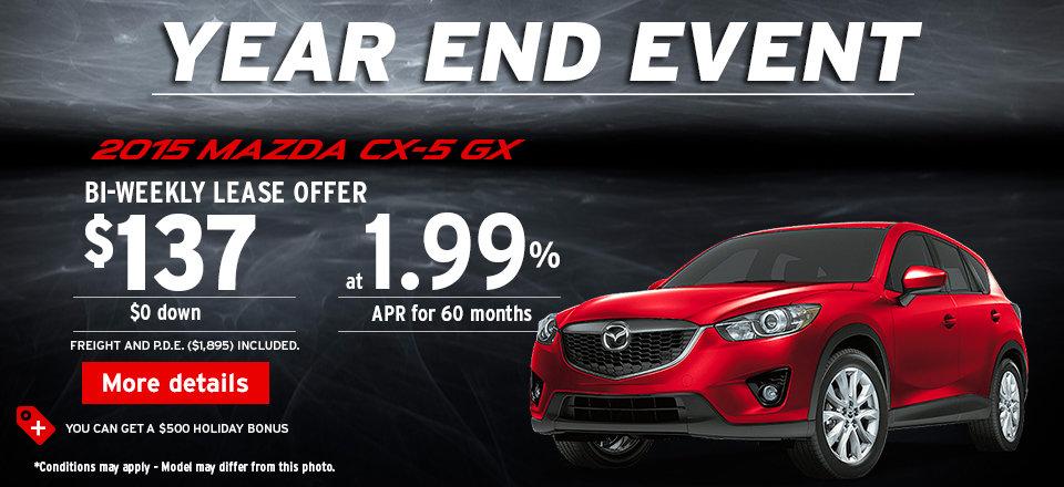 2015 Mazda CX-5 GX - Year end event