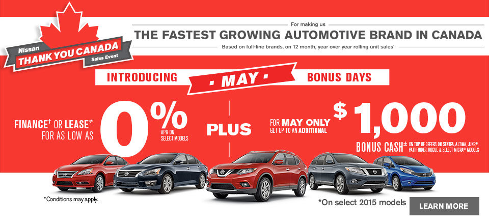Nissan Thank You Canada Sales Event