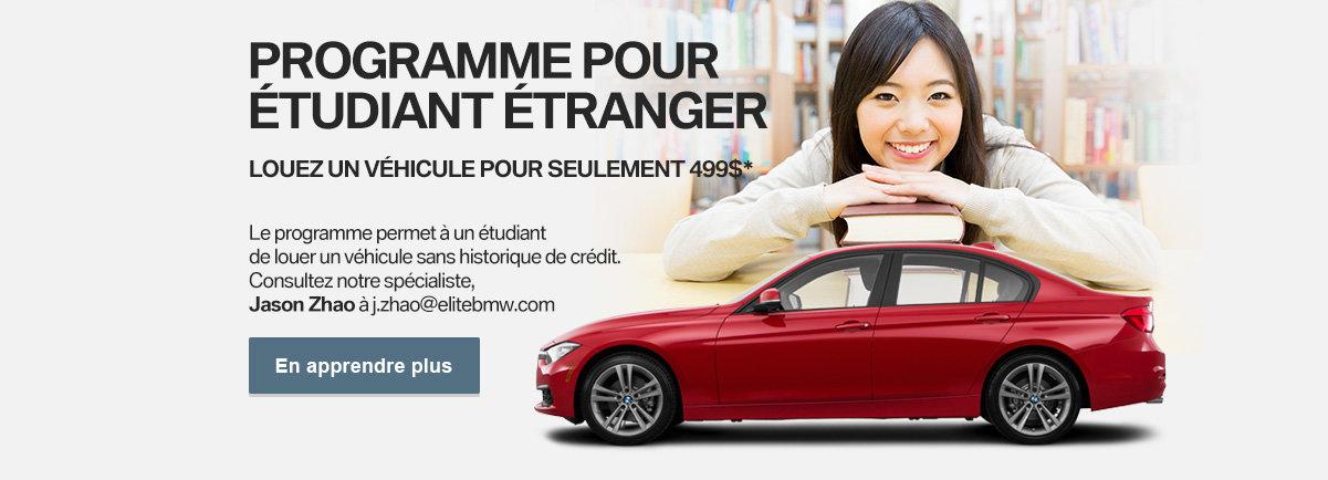 Programme pour étudiant étranger