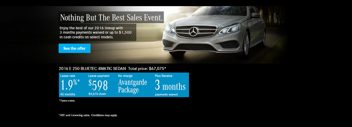 Nothing But The Best Sales Event. E250