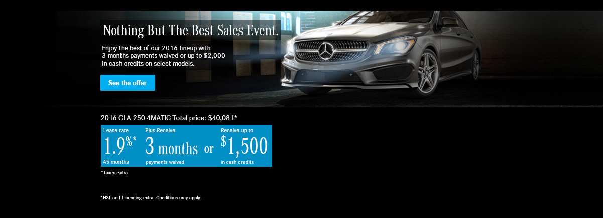 Nothing But The Best Sales Event. CLA