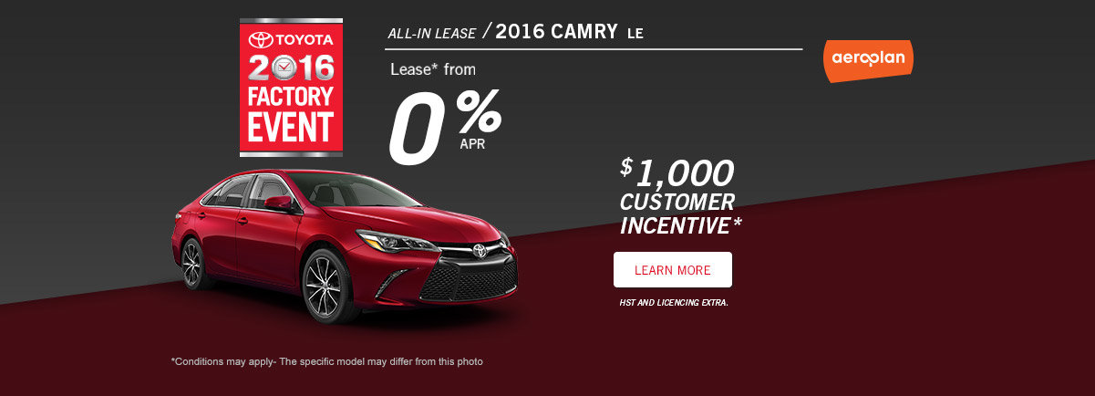 Factory Event July Promo Camry