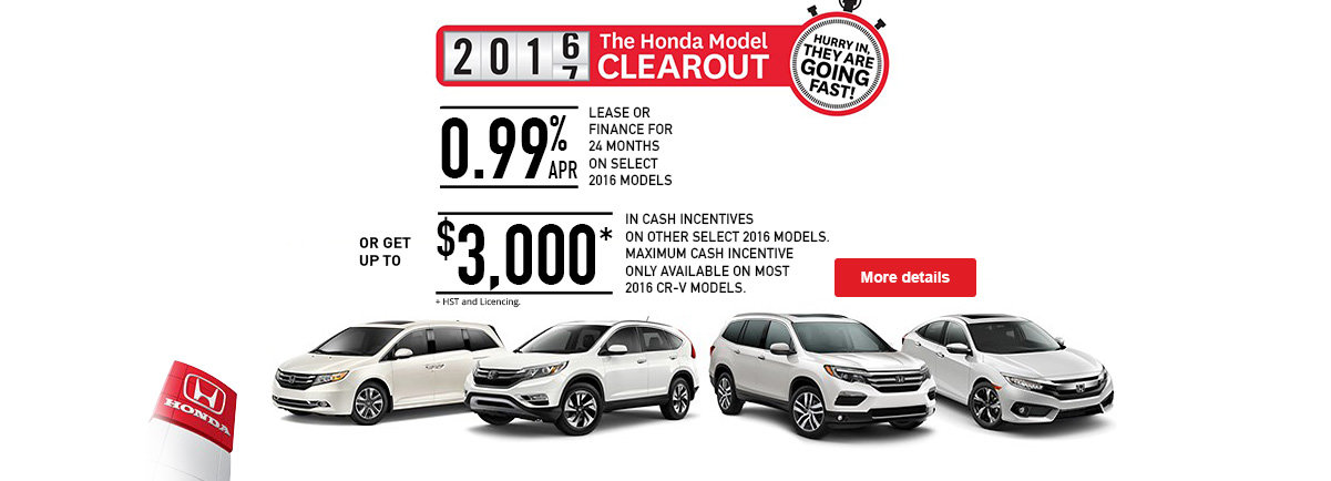 Honda Model Clearout Promo August