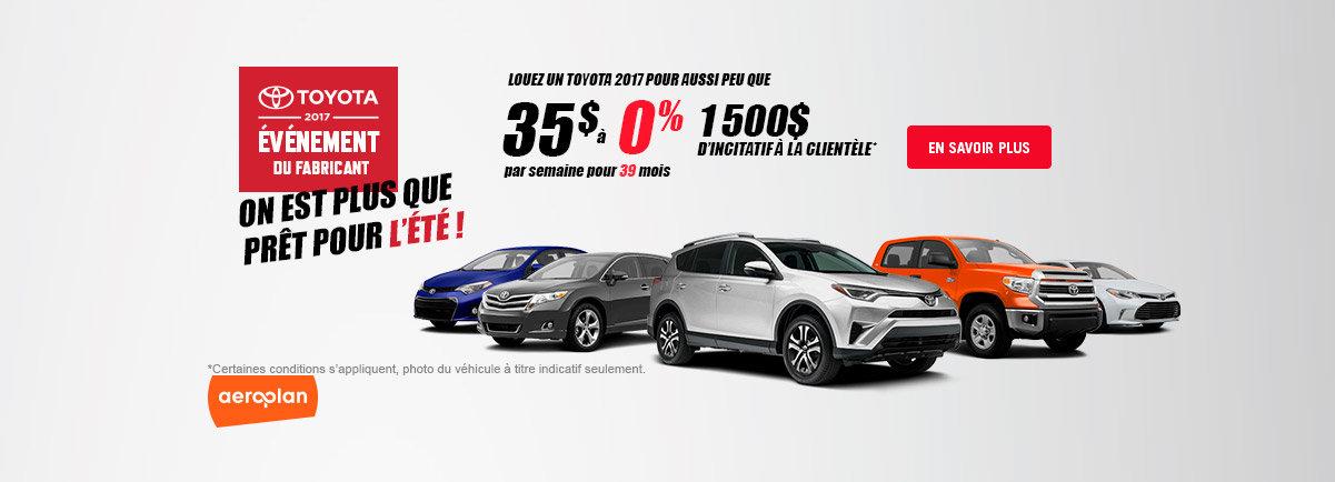 Toyota 2017 événement du fabricant - Event