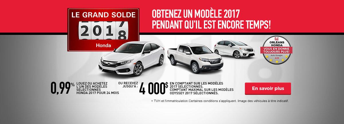 Le grand solde Honda - Octobre