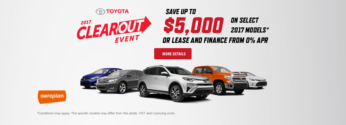2017 Toyota Clearout Event - October