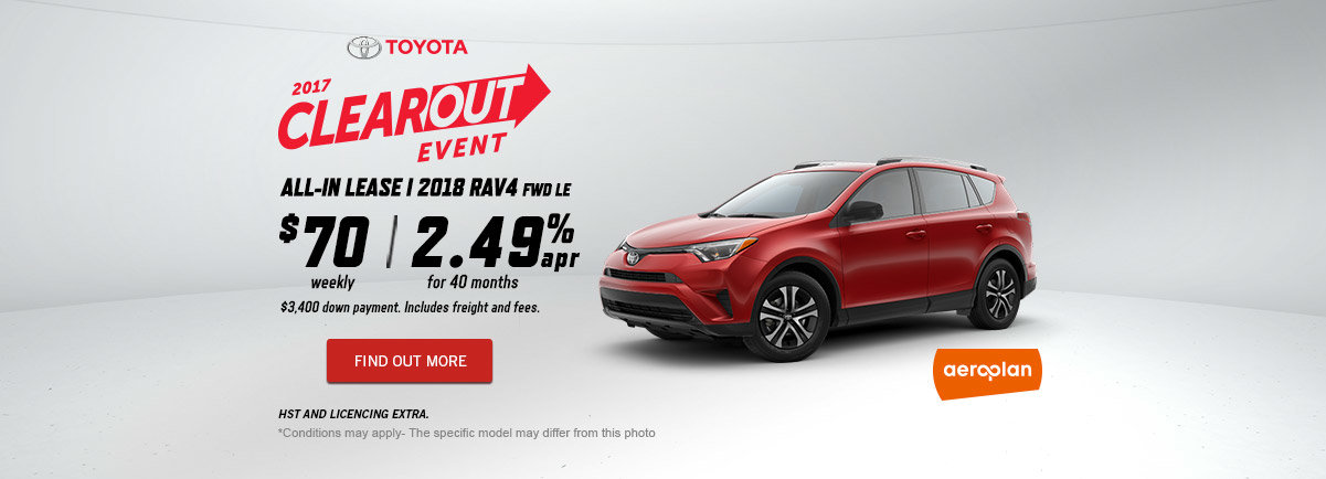 2017 Toyota Clearout Event - October - RAV4