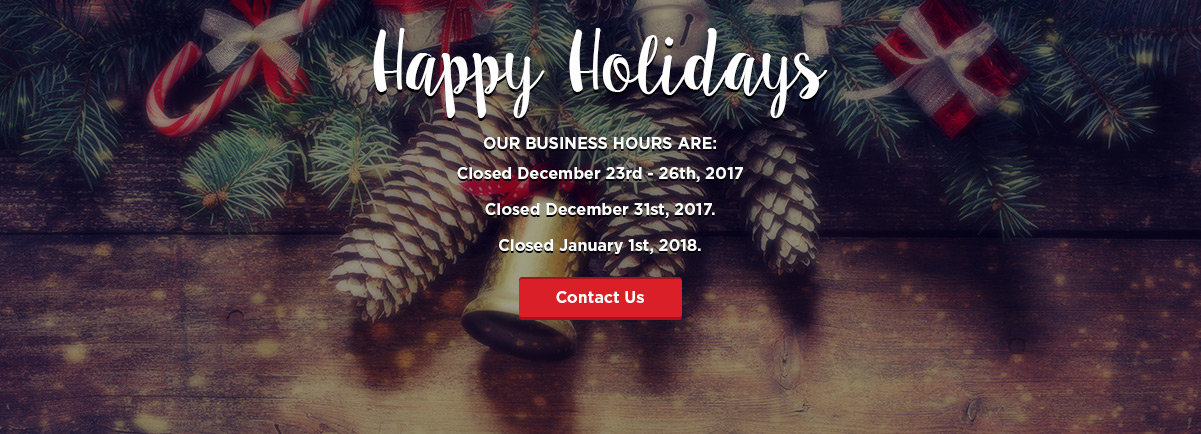 Holidays business hours