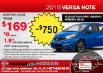 Get the 2015 Nissan Versa Note for only $169!