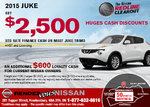 Save on the new 2015 Nissan Juke this month!