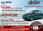 Drive home the all-new 2015 Nissan Micra today!