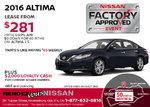 Save Big on the 2016 Nissan Altima