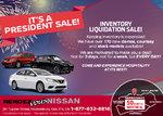 It's a President Sale at Rendez-Vous Nissan!