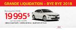 La Kia Optima 2018 - en rabais de 6000$