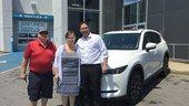 Félicitations à M. et Mme Valade pour votre nouvelle MazdaCX5 2018
