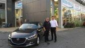Félicitations M. Fontaine pour votre nouvelle Mazda 3 2018