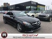 Mercedes-Benz E350 4MATIC AMG SPORT PANORAMIC BLIND SPOT BLACK ON BLACK 2014