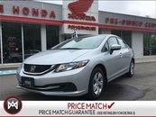 2015 Honda Civic Sedan LX -ROADSIDE! $59.34 WEEKLY!! WARRANTY! BLUETOOTH!