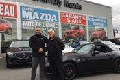 Félicitations M. Larivée pour l'acquisition de votre MX-5.  Chambly Mazda apprécié votre confiance