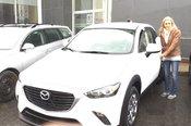 Félicitations Mme Lefebvre pour votre nouvelle Mazda CX3
