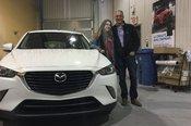 Félicitations à Mme Fontaine pour l'achat de sa Mazda CX3 GS 2017