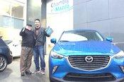 Merci à M. Simon Legros pour votre confiance lors de l'achat de votre nouvelle Mazda CX3 2017