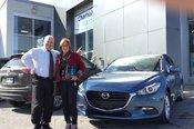 Félicitations Mme Legault pour votre nouvelle Mazda GS 2017