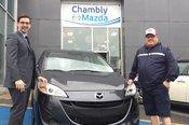 Félicitations M. Nadeau pour votre nouvelle Mazda5 2017