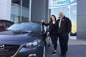 Félicitations à Loriane Gobeil-Lamarre pour sa nouvelle Mazda 3 GT
